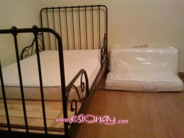 Estructura de cama extensible somier y colch n san for Muebles san bartolome