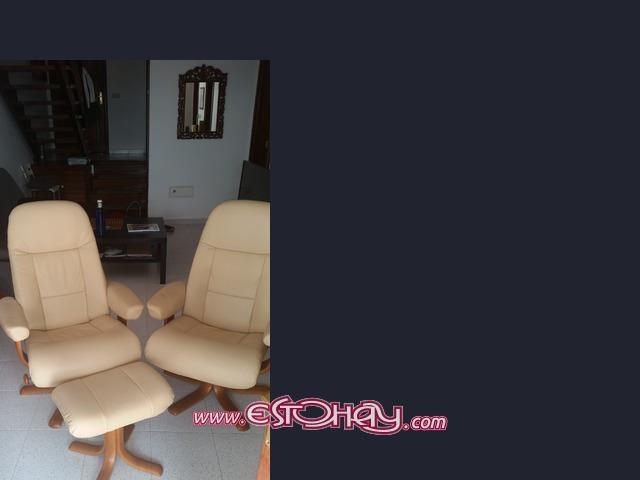Se venden sillones de piel y madera sin estrenar playa - Sillones tenerife ...