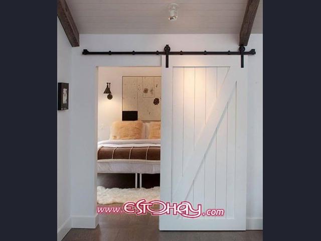 Se hacen puertas correderas tipo granero y mueble de ba o for Puertas tipo granero