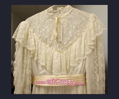 Vestido novia Vintage años 60 PRONOVIAS nuevo con etiquetas 100% SEDA NATURAL